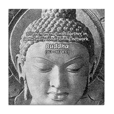 Buddha Buddhism Quote Picture Tile Coaster