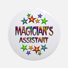 Magician Assistant Round Ornament
