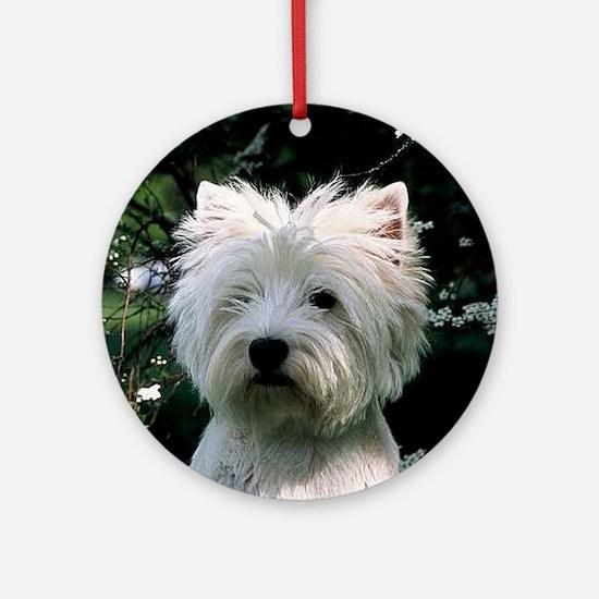 west highland white terrier Round Ornament
