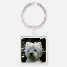 west highland white terrier Keychains