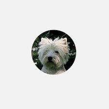 west highland white terrier Mini Button