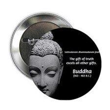 Buddhist Religion: Gift of Truth Button