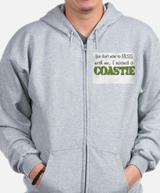 Unique Coastie wife Zip Hoody