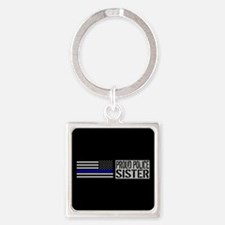 Police: Proud Sister (Black Flag B Square Keychain