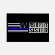 Police: Proud Sister (B Rectangle Magnet (10 pack)