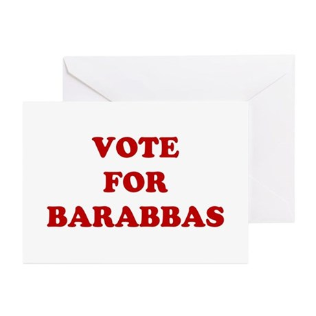 Vote For Barabbas Greeting Cards (Pk of 20)