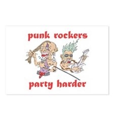 Punk Rockers Party Harder Postcards (Package of 8)
