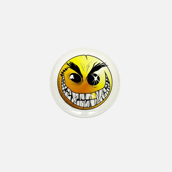 Evil Smiley Mini Button