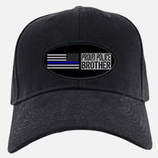 Police: Proud Brother (Black Flag Blue L Baseball Hat