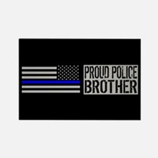 Police: Proud Brother ( Rectangle Magnet (10 pack)