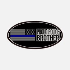 Police: Proud Brother (Black Flag Blue Line) Patch
