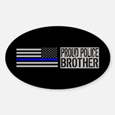 Police: Proud Brother (Black Flag B Decal
