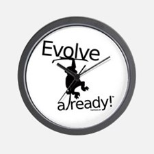 Evolve already Monkey Wall Clock