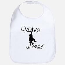 Evolve already Monkey Bib