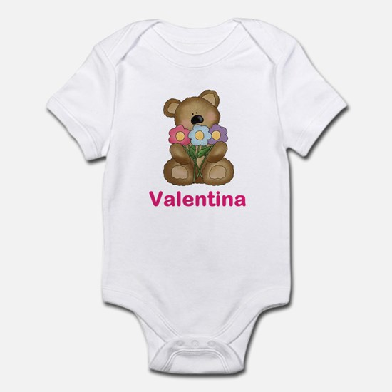Valentina's Bouquet Bear Infant Bodysuit