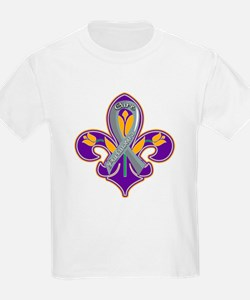 Cure Parkinsons Purple and Gold T-Shirt