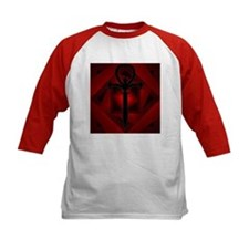 Kids Red Gothic Ankh Baseball Jersey