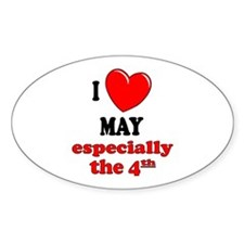 May 4th Oval Decal