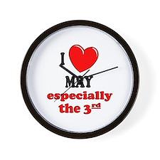 May 3rd Wall Clock