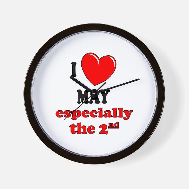 May 2nd Wall Clock