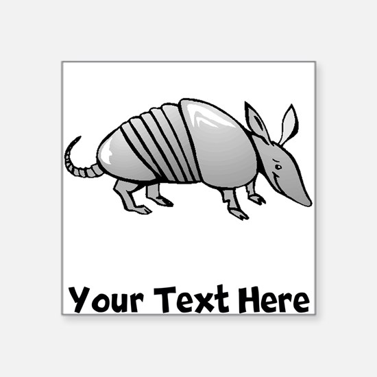 Grey Armadillo (Custom) Sticker