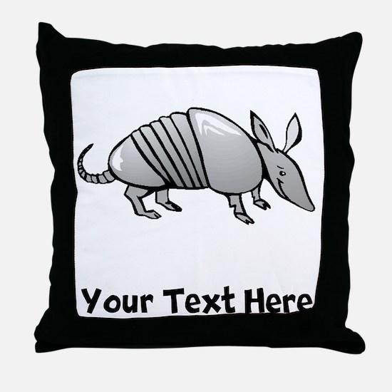 Grey Armadillo (Custom) Throw Pillow
