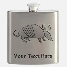 Grey Armadillo (Custom) Flask