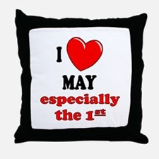 May 1st Throw Pillow
