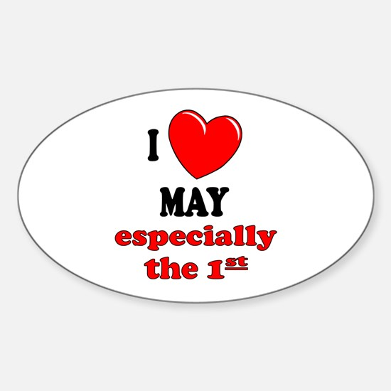 May 1st Oval Decal