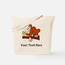Monkey With Banana (Custom) Tote Bag