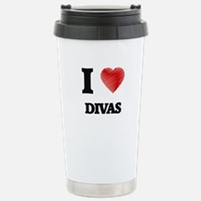 I love Divas Stainless Steel Travel Mug