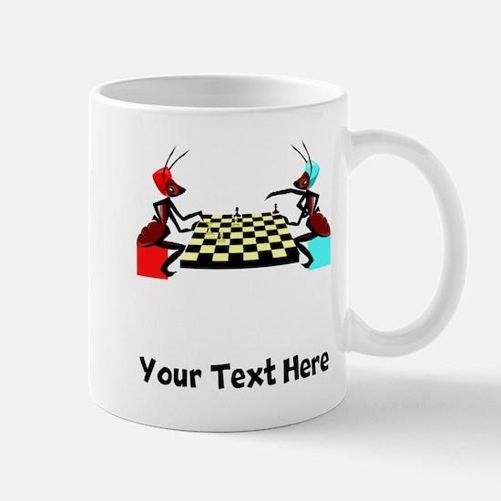 Ants Playing Chess (Custom) Mugs
