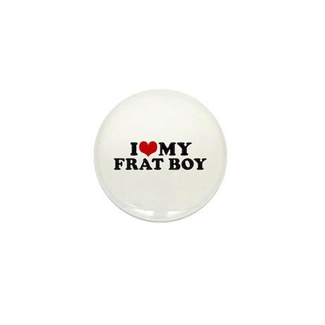 I Love My Frat Boy Mini Button