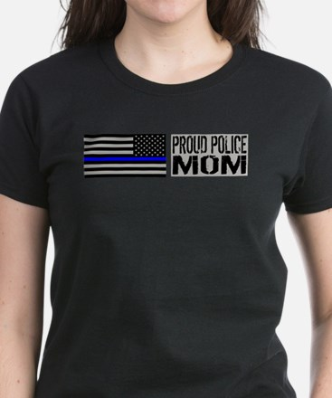Police: Proud Mom (Black Flag Tee