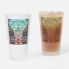 Red elephants Drinking Glass