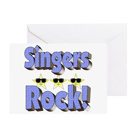 Singers Rock! Greeting Card