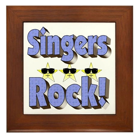 Singers Rock! Framed Tile