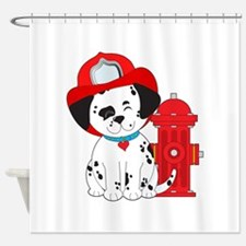 Doggon fire fighter Shower Curtain