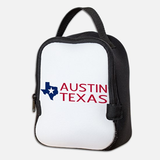 Texas: Austin (State Shape & St Neoprene Lunch Bag