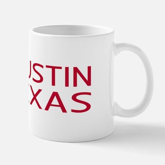 Texas: Austin (State Shape & Star) Mug