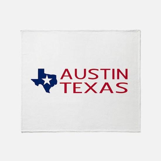 Texas: Austin (State Shape & Star) Throw Blanket