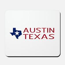Texas: Austin (State Shape & Star) Mousepad