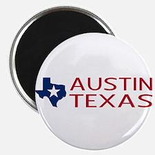 Texas: Austin (State Shape & Star) Magnet