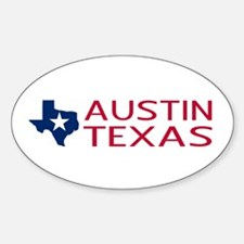 Texas: Austin (State Shape & Star) Decal