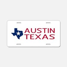 Texas: Austin (State Shape Aluminum License Plate