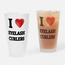 I love Eyelash Curlers Drinking Glass