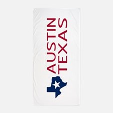 Texas: Austin (State Shape & Star) Beach Towel