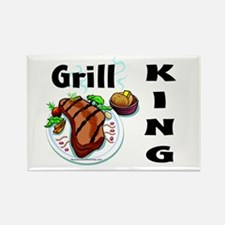 Grill King Rectangle Magnet