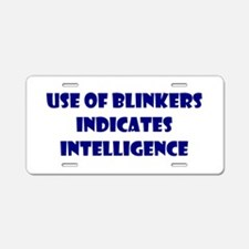 Blinker Magnet Aluminum License Plate