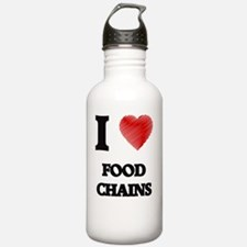 I love Food Chains Water Bottle